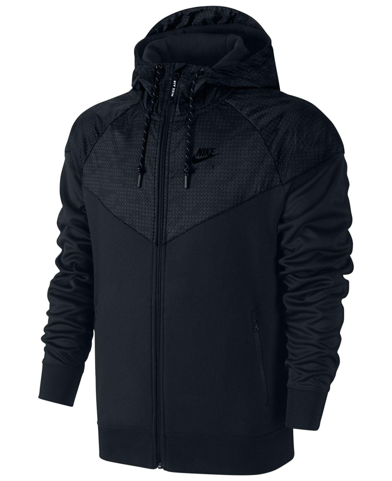 2ae3f6b52b29 Lyst - Nike Men s Air Hybrid Fleece Windrunner Hoodie in Black for Men