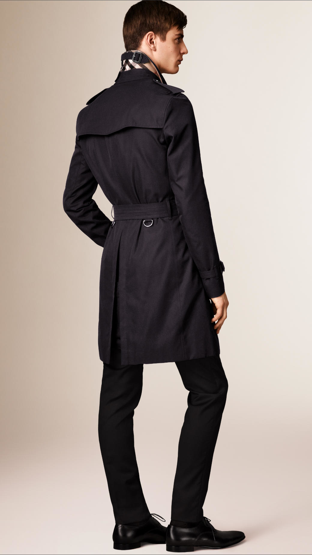 7c3270ced9fc Lyst - Burberry The Sandringham - Long Heritage Trench Coat in Blue ...