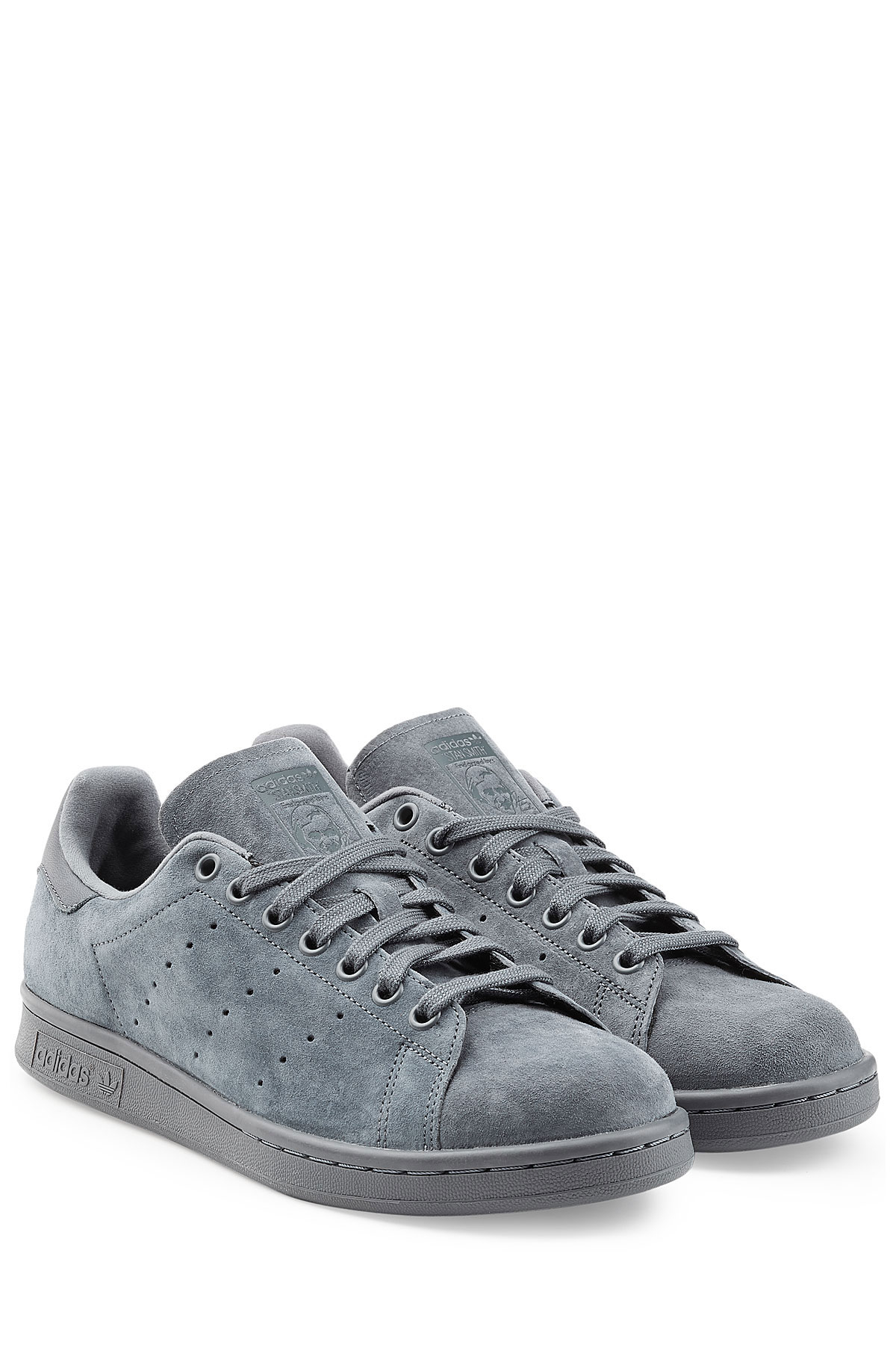 eae56a24a99e96 Lyst - adidas Originals Stan Smith Suede Sneakers - Blue in Blue for Men
