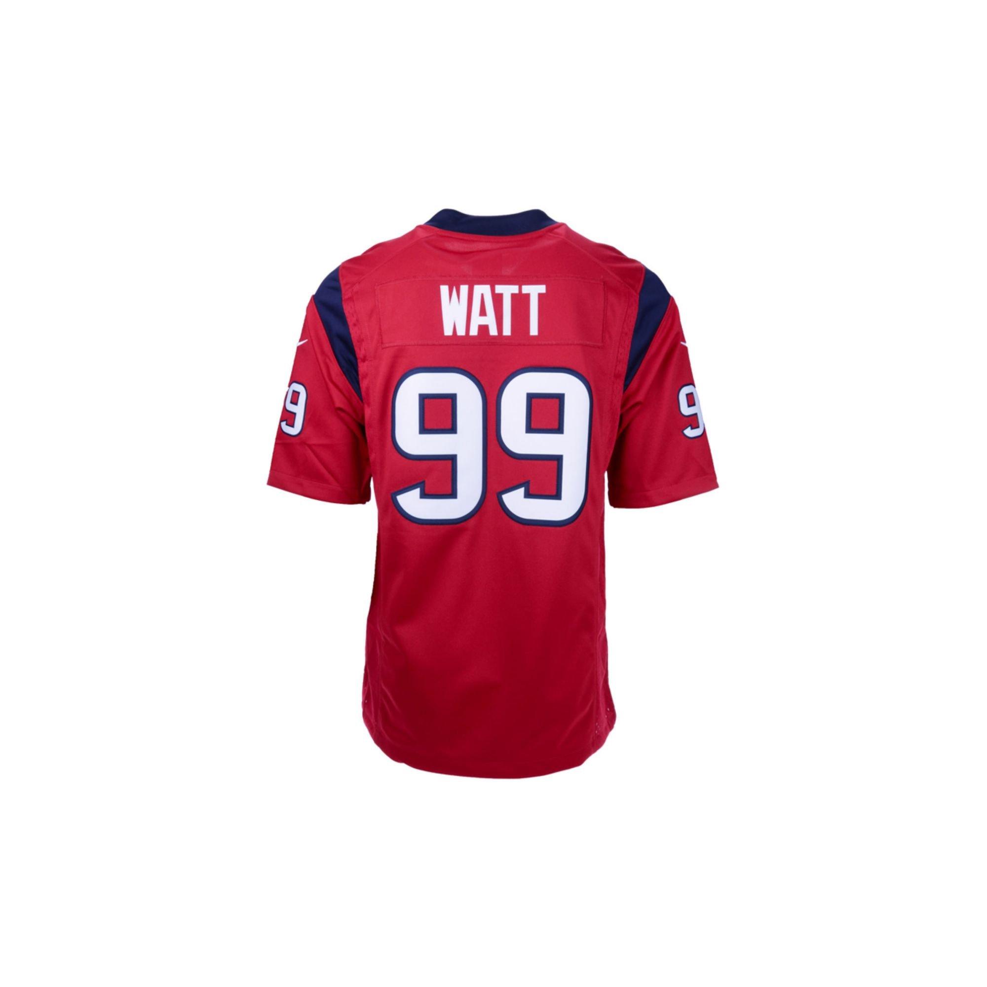 Men S Houston Texans 99 J J Watt Black Pro Line Gold