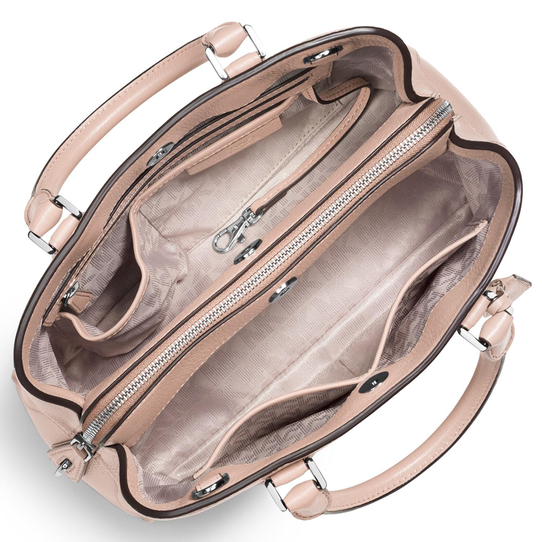 441e4a0b2d1d ... Michael Michael Kors Camille Medium Leather Satchel in Natur ...