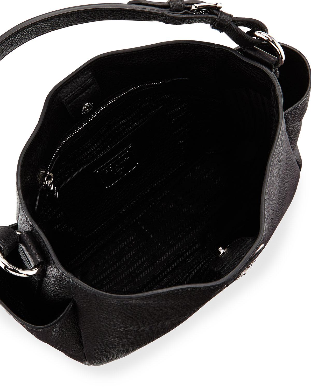Lyst - Prada Vitello Daino Single Strap Tote Bag in Black f5626d0bbae29