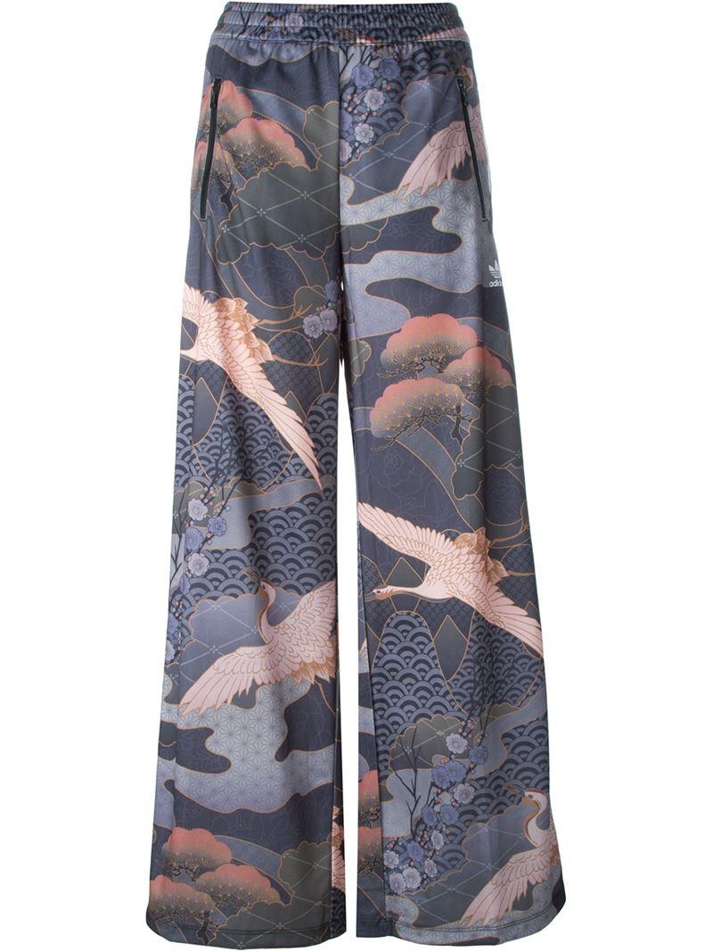 305c48224a97 Lyst - adidas Originals X Rita Ora Kimono Print Track Pants