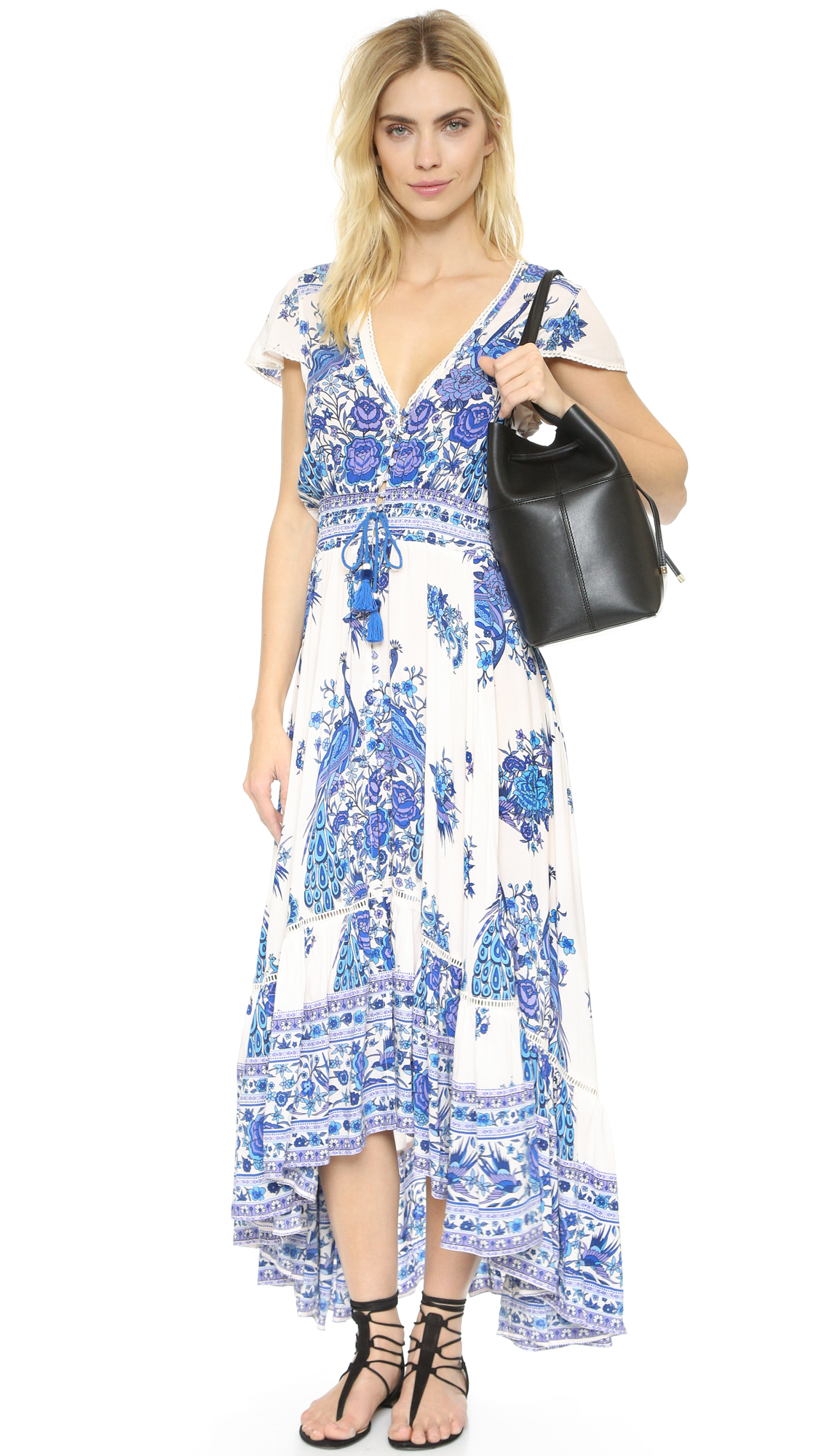 Spell Hotel Paradiso Gown in Blue - Lyst