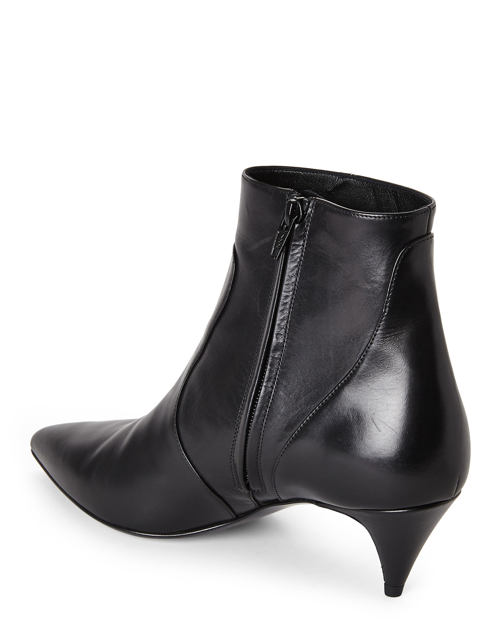 Saint laurent Black Kitten Heel Booties in Black  Lyst