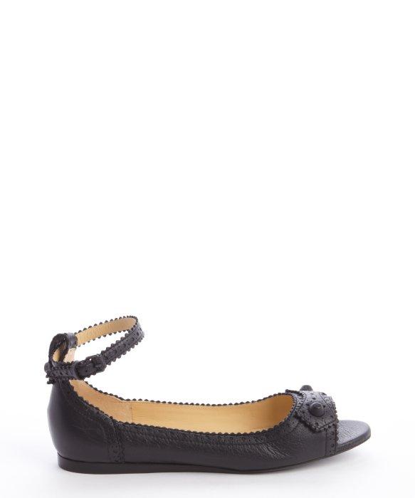 cheap sale footlocker cheap low shipping Balenciaga Suede Ankle-Strap Flats cheap footlocker outlet best wholesale T3SsbaeyXw