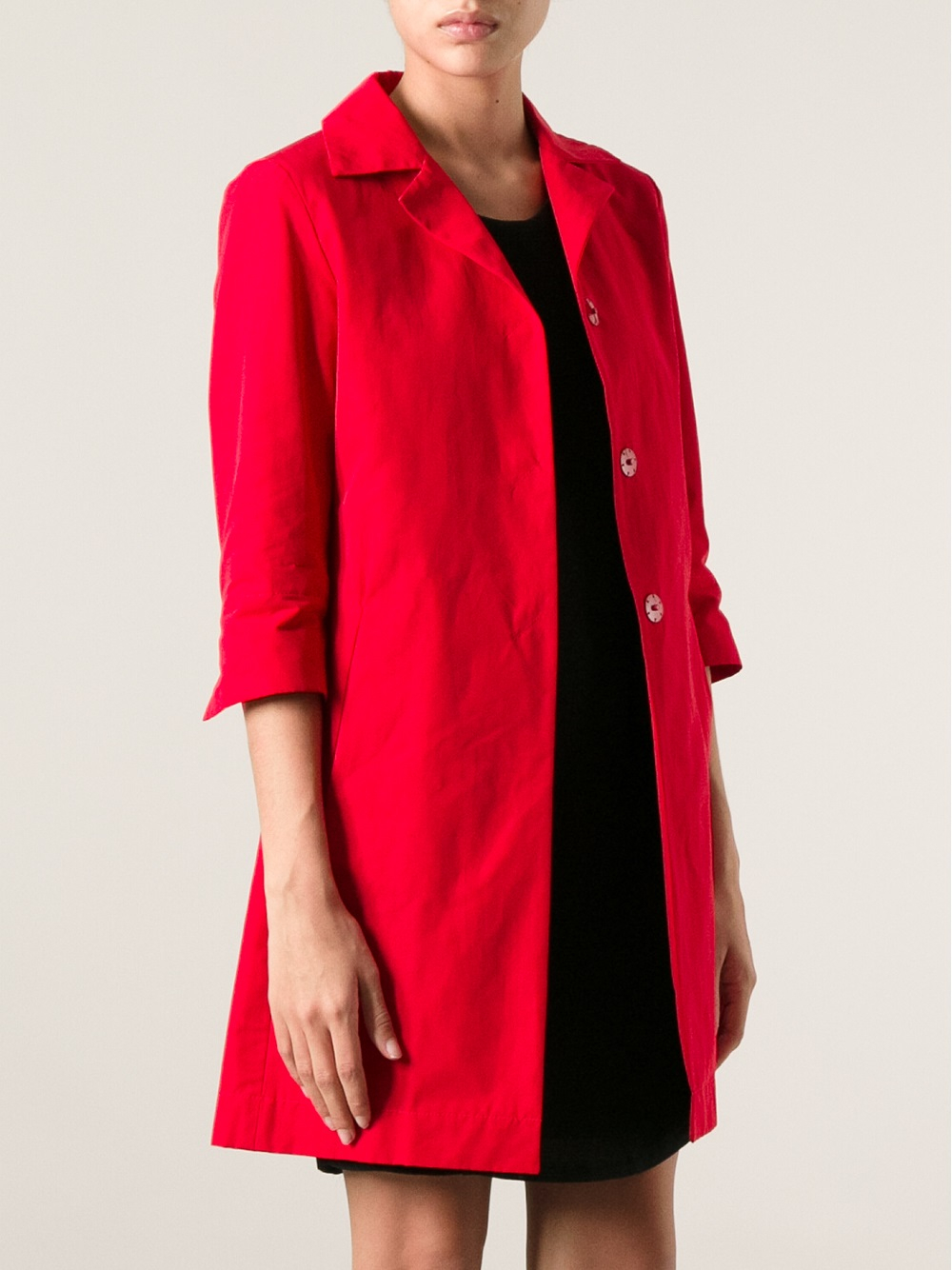 Herno three quarter sleeve coat Release Dates Cheap Online Discount Collections Shopping Online With Mastercard Cheap Sale Order Buy Cheap With Mastercard tRVYxVlz4
