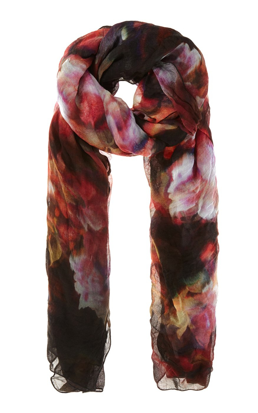 millen floral print scarf in black floral lyst