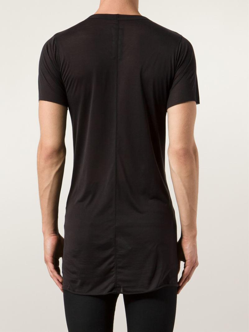 Lyst rick owens scoop neck t shirt in black for men for Scoop neck t shirt