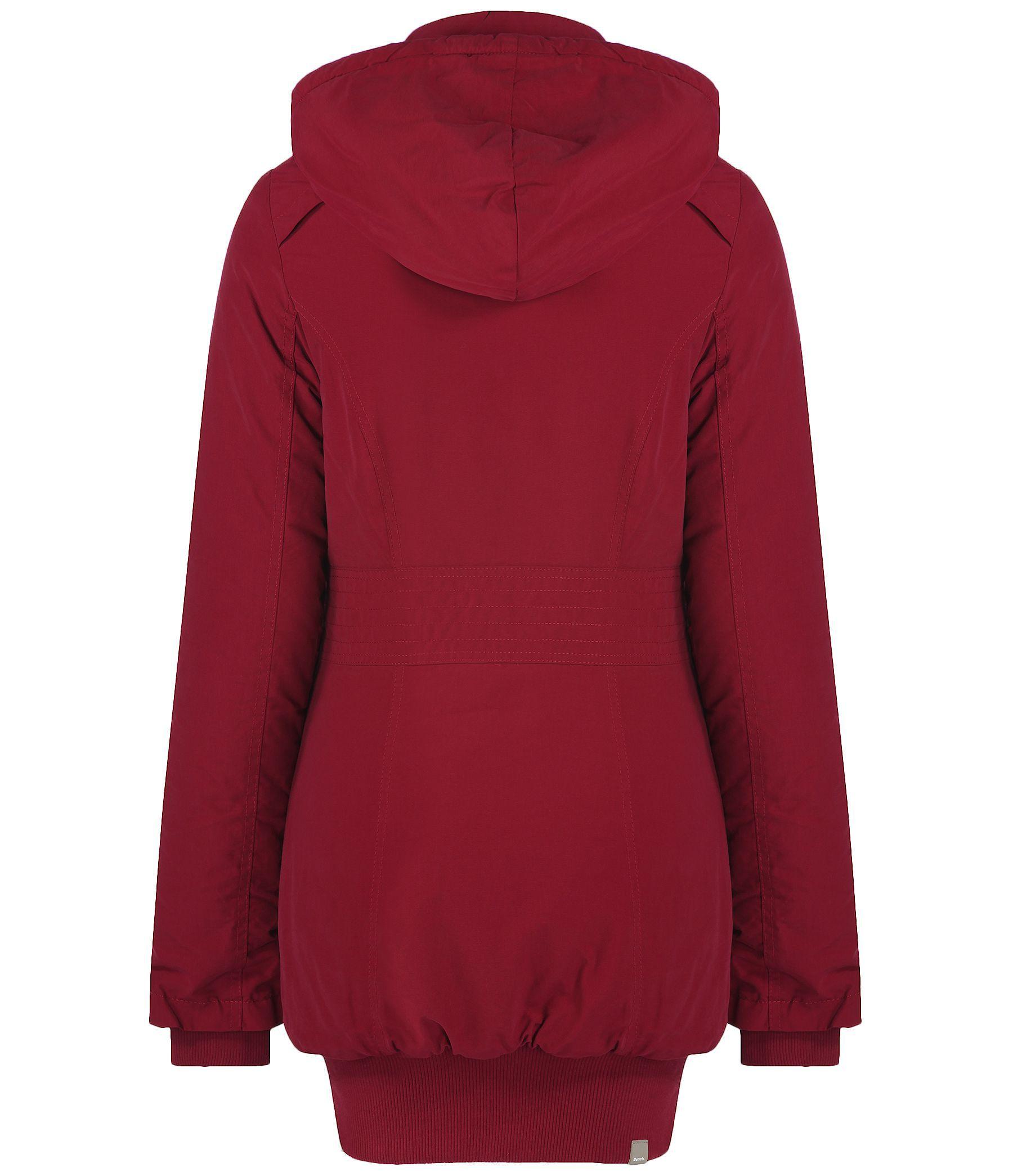 Bench Razzer Ii Hooded Parka Jacket In Red Lyst