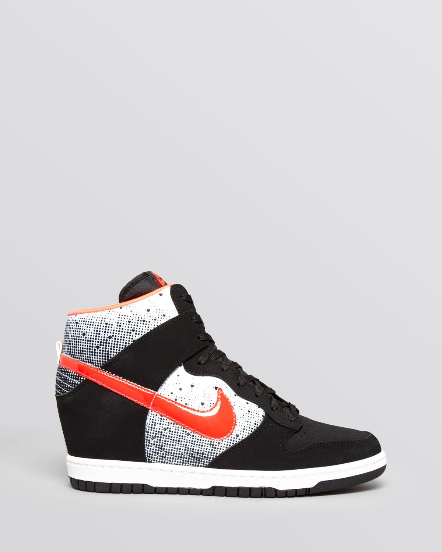 Nike Lace Up High Top Wedge Sneakers Women S Dunk Sky Hi