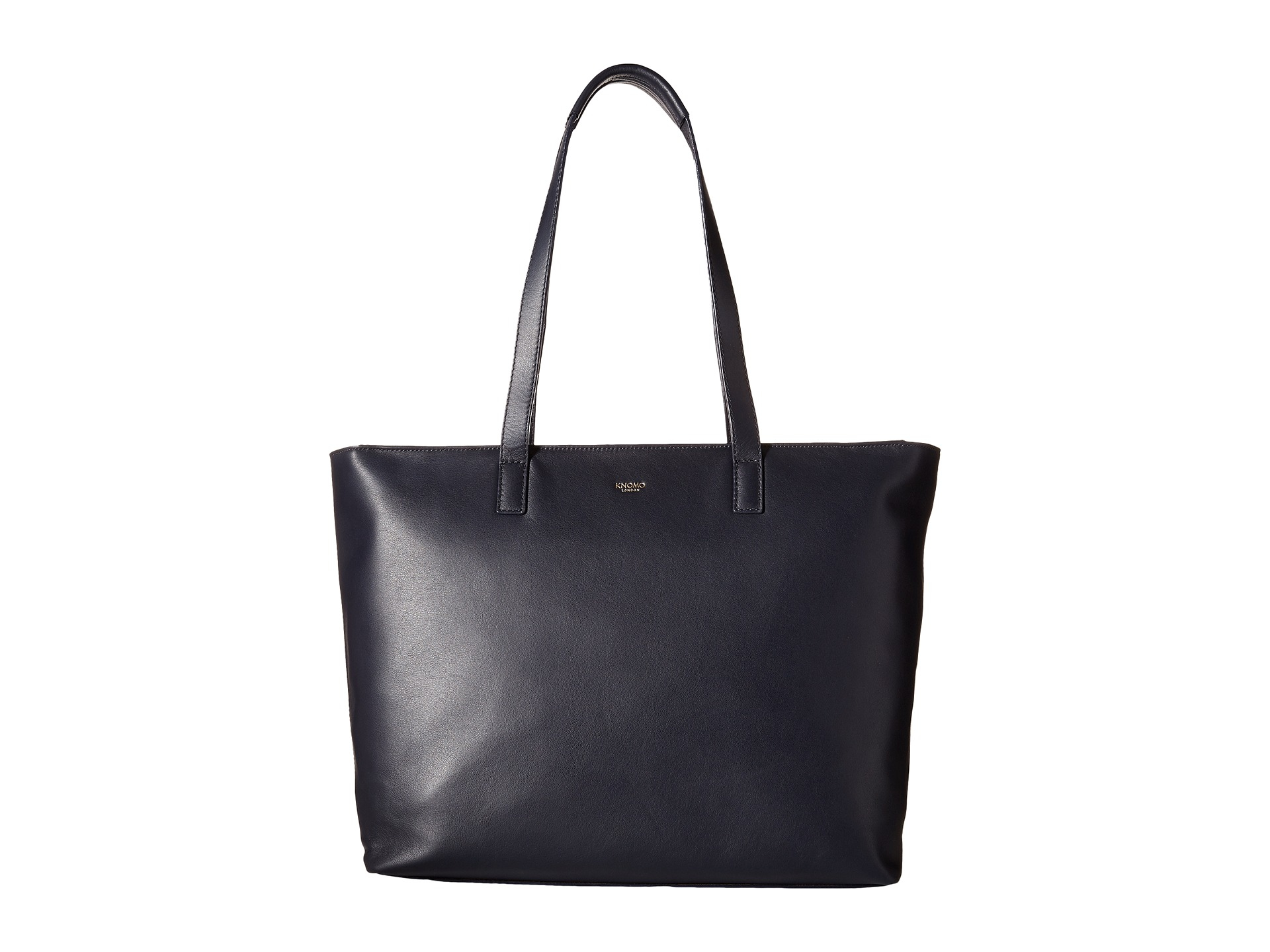 ac69a8576 Lyst - Knomo Maddox Laptop Leather Zip Tote in Blue