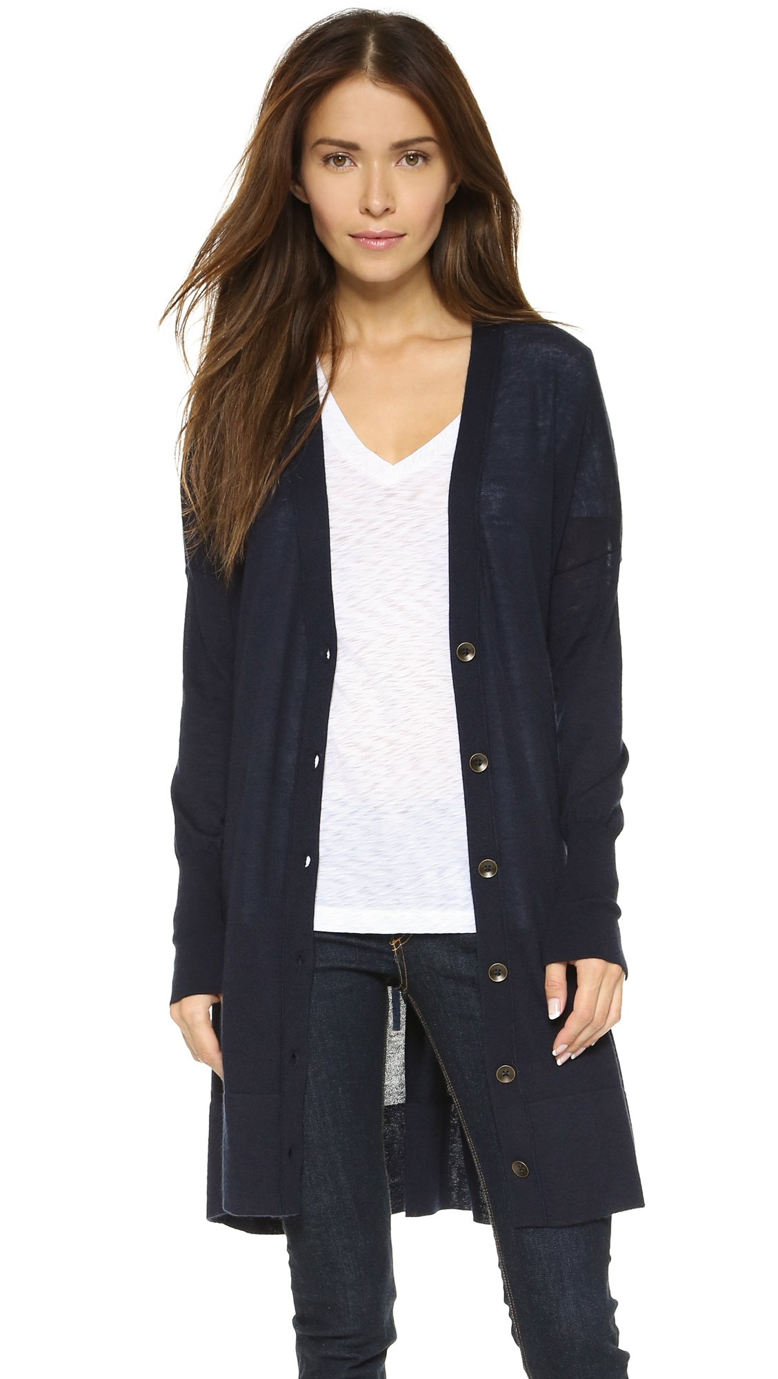 Rag & bone Whitney Cashmere Cardigan - Navy in Blue | Lyst