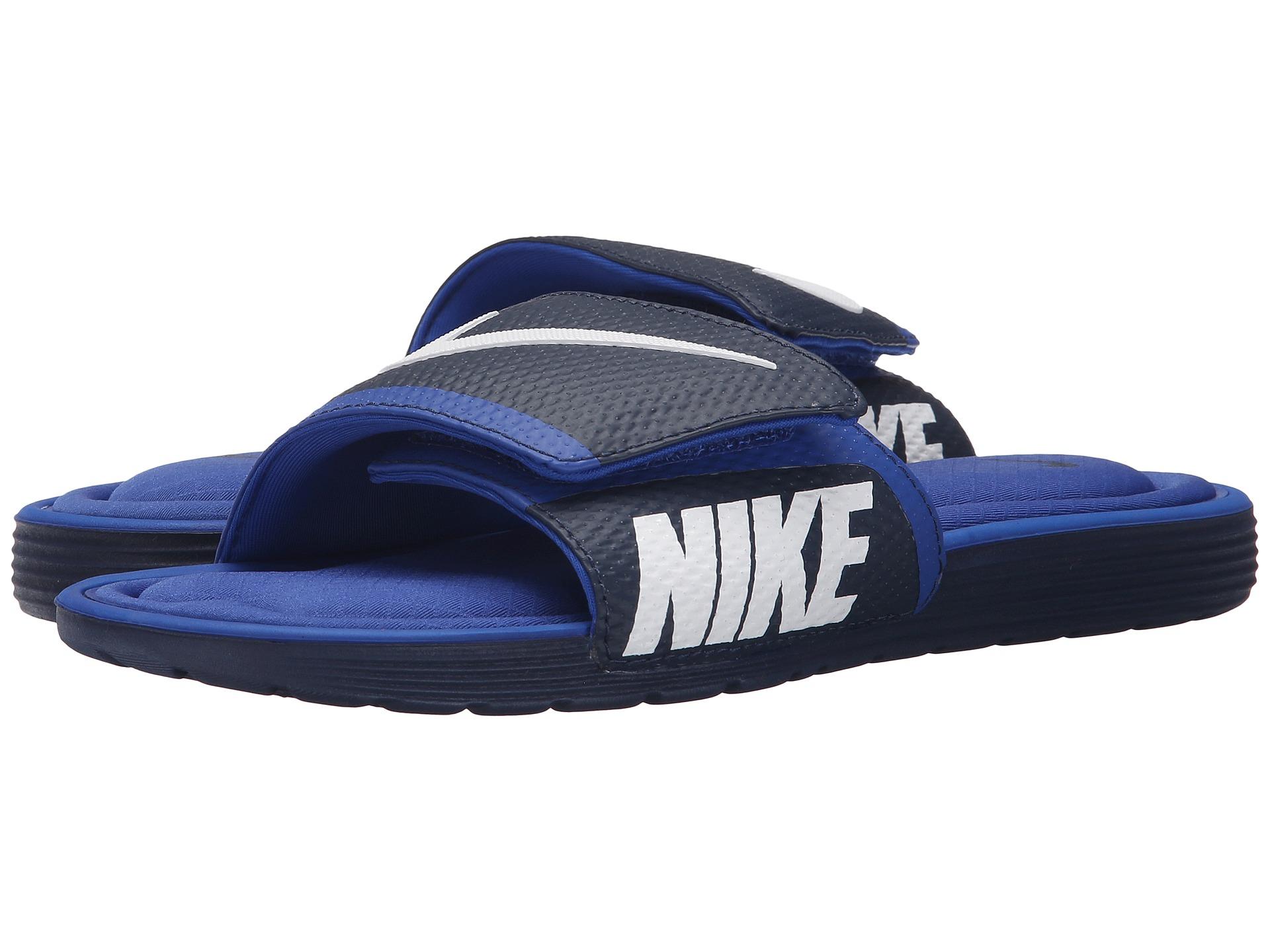 Nike Solarsoft Comfort Slide In Blue For Men Lyst