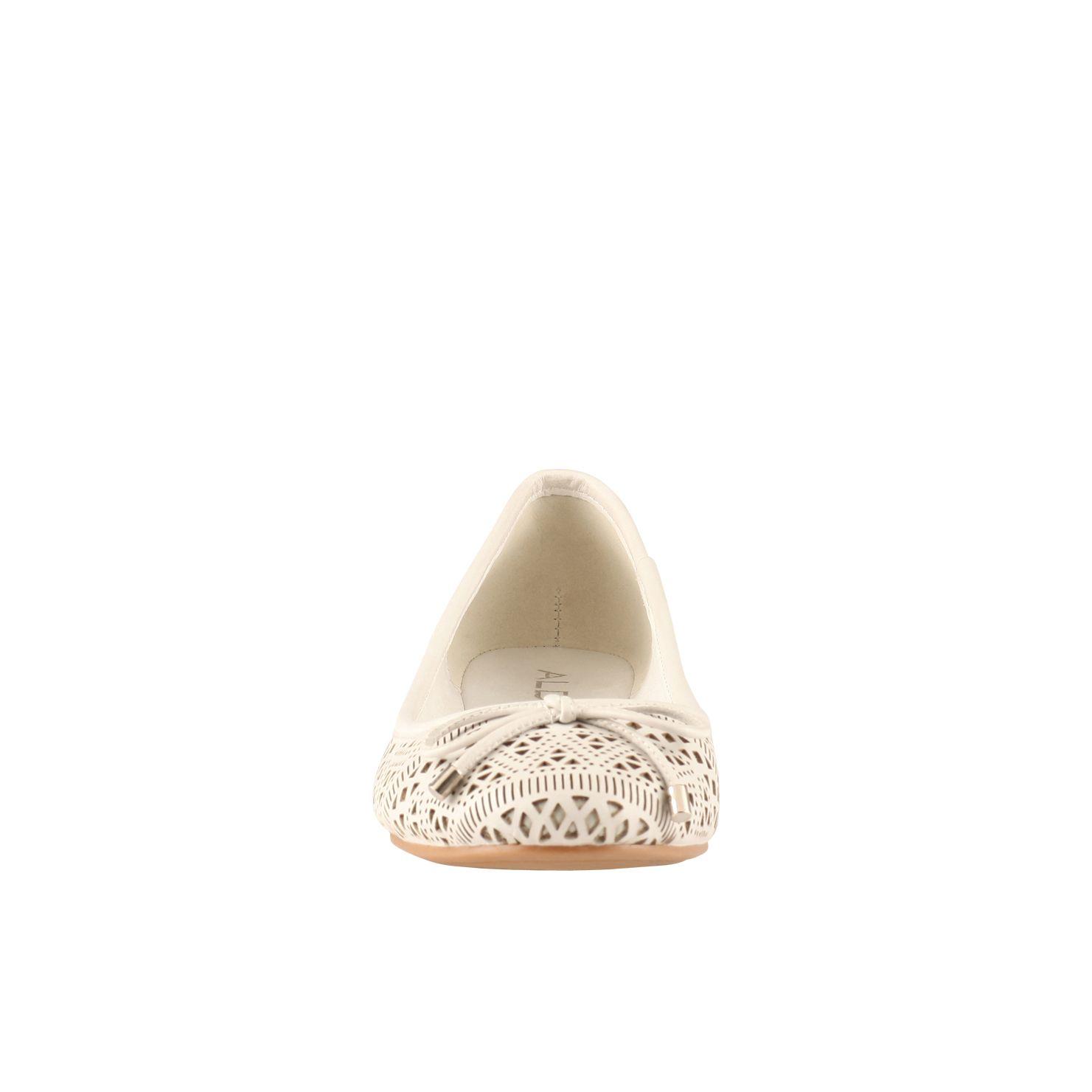Women Lasercut White Leather Shoes