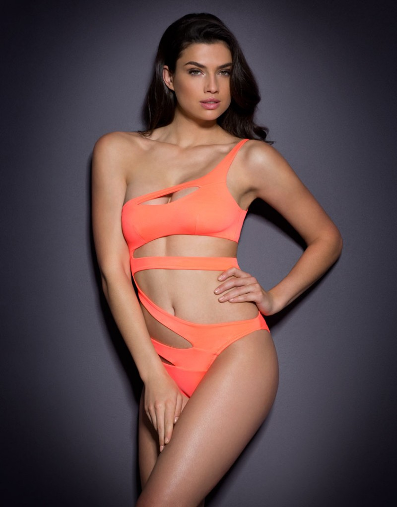 1fe7f41d63 Lyst - Agent Provocateur Lexxi Swimsuit Coral in Pink