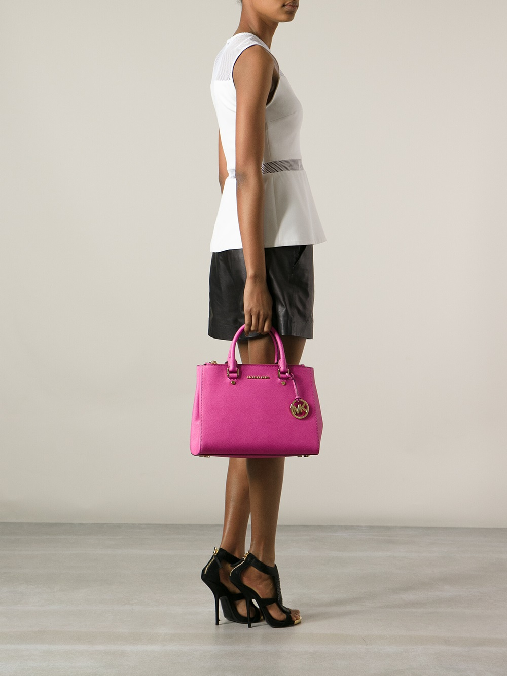 3e3a3ab487d2 ... coupon for lyst michael michael kors jet set travel tote in pink 3855b  a4969