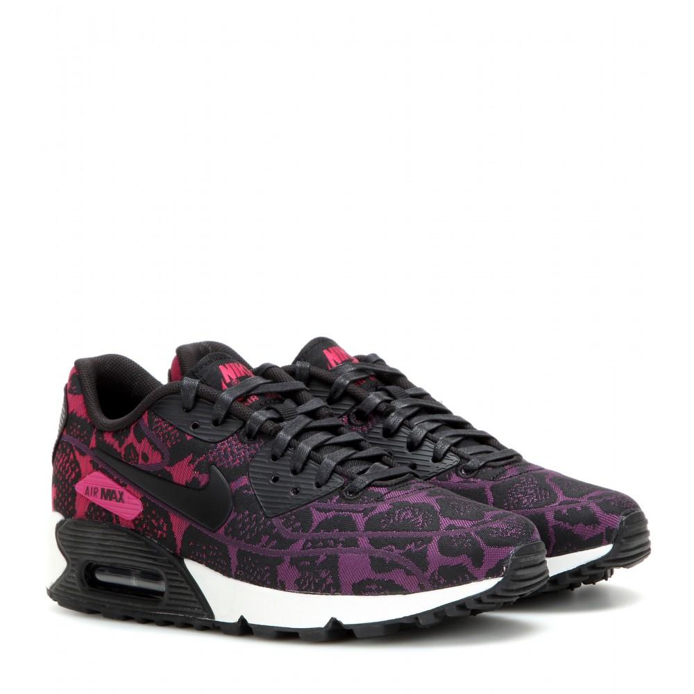 nike air max 90 jacquard sneakers in black lyst