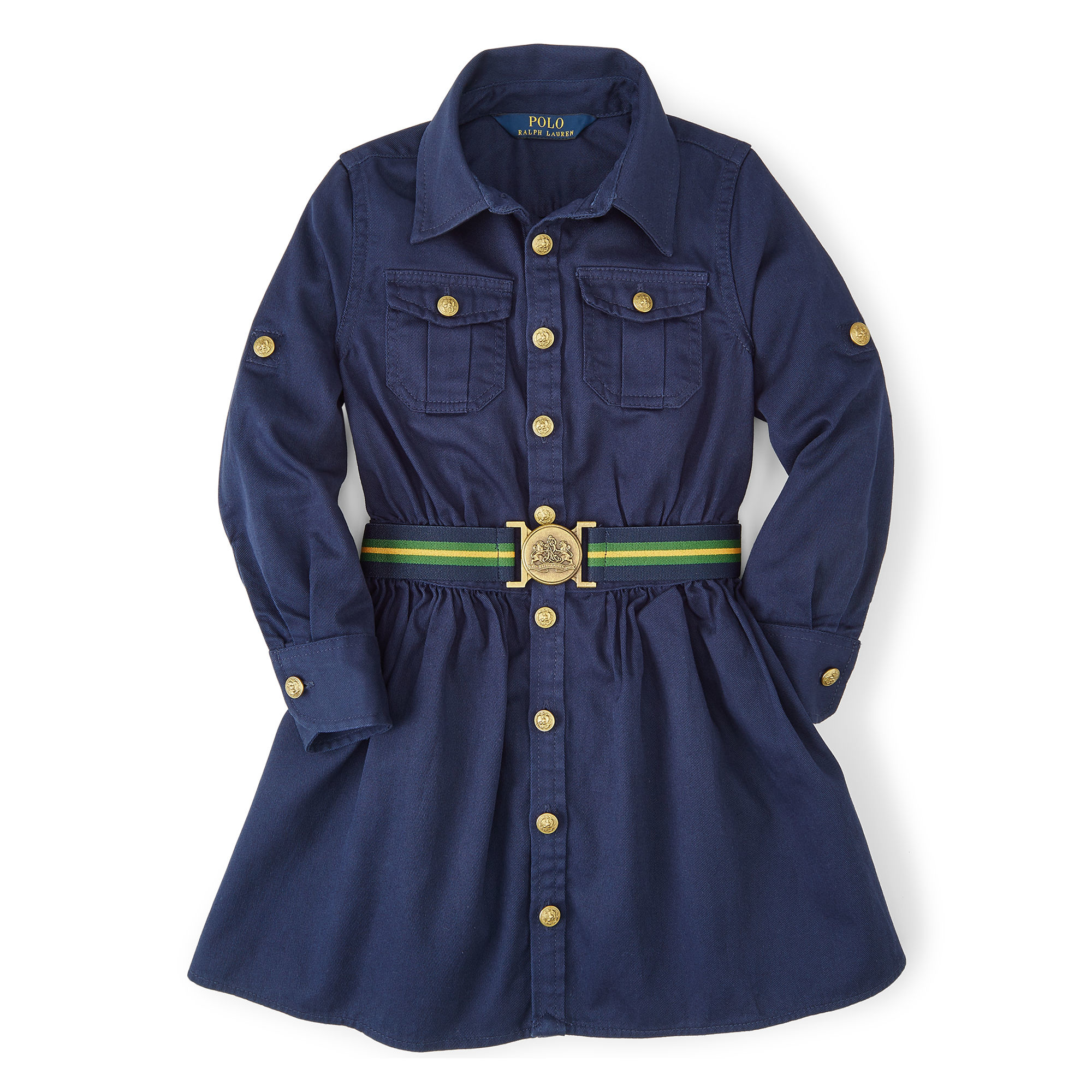 91c666cd4 Ralph Lauren Cotton Chino Shirtdress in Blue - Lyst