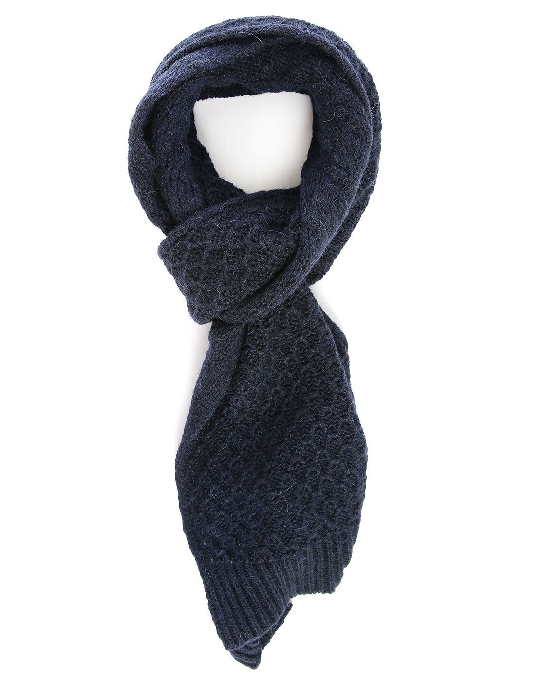 closed navy scarf in blue for lyst