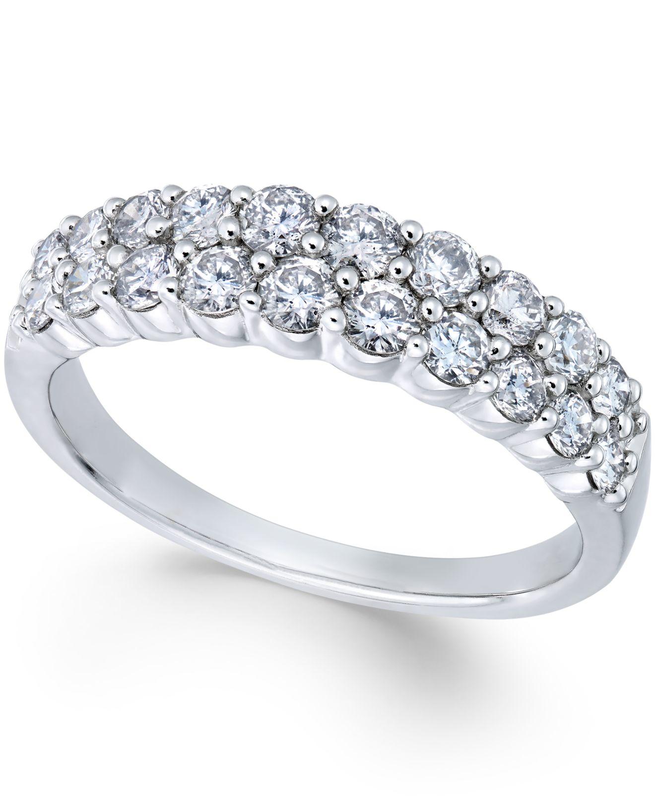 macy 39 s diamond double row wedding band 1 ct t w in 14k