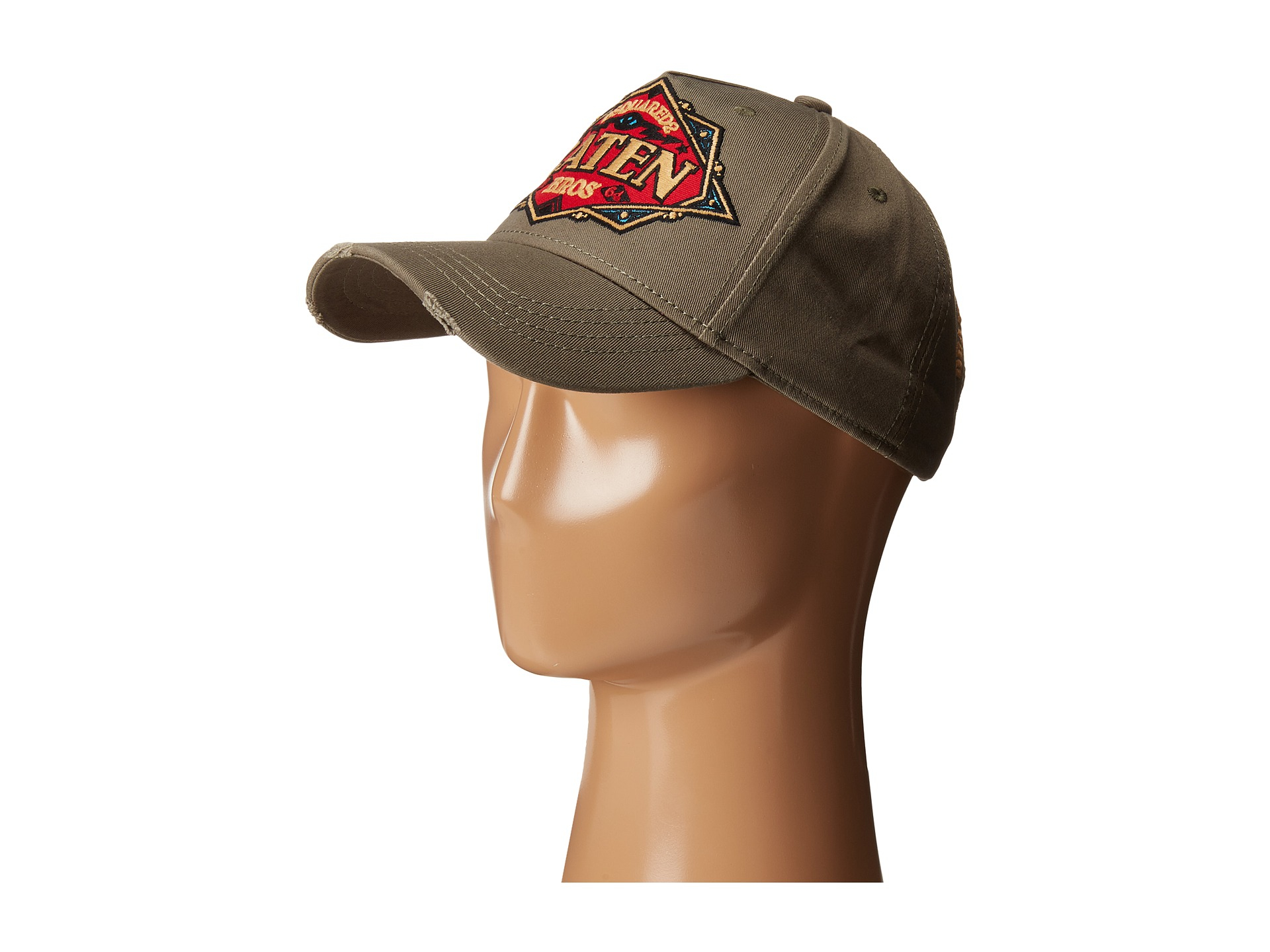 f5a052e9d DSquared² Caten Brothers Cap in Natural for Men - Lyst