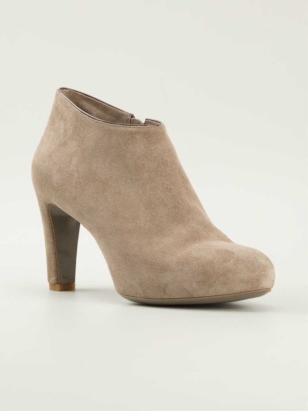 Roberto del carlo Classic Ankle Boots in Natural | Lyst