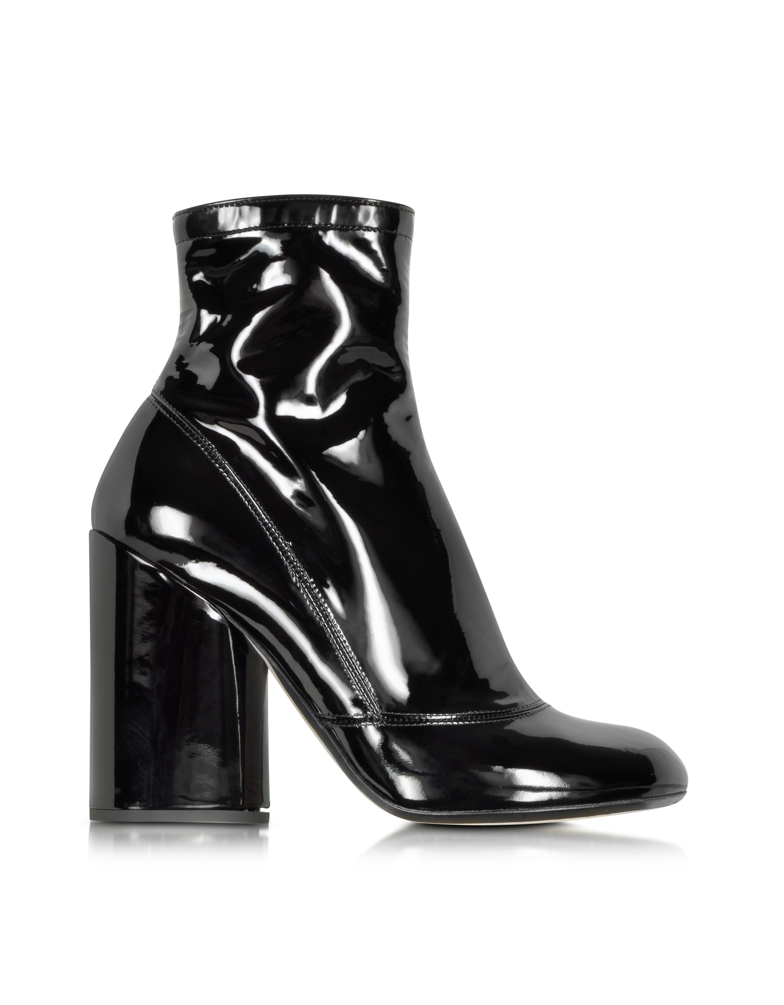 Marc jacobs Black Patent Leather Boot in Black | Lyst