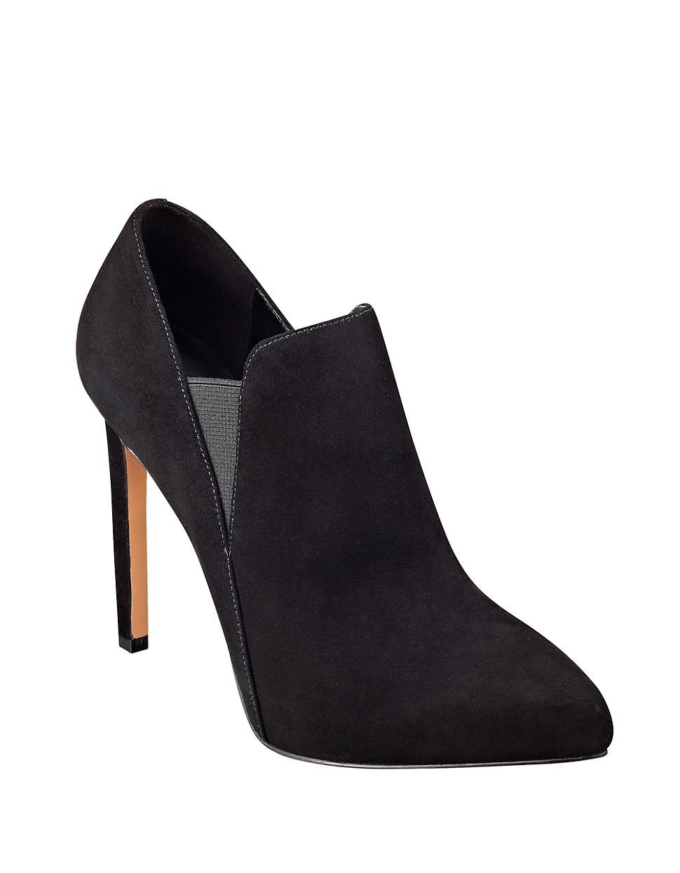 nine west leandra suede ankle boots in black lyst