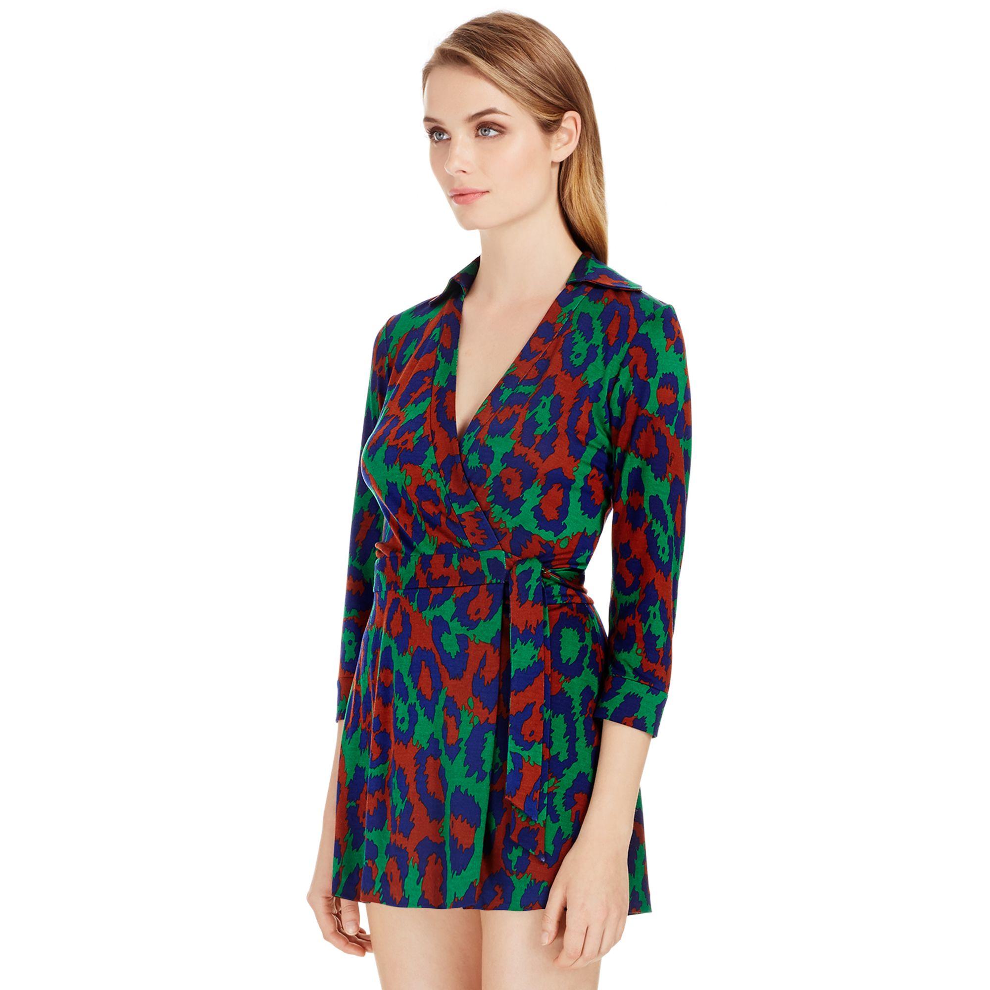 fe6d0991a3 Lyst - Diane von Furstenberg Celeste Silk Jersey Wrap Romper