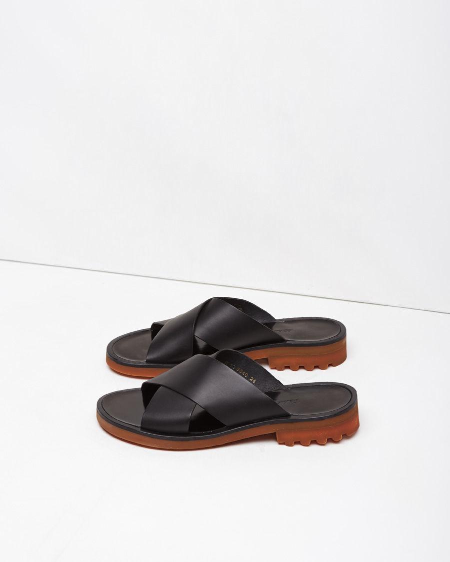 Lyst Robert Clergerie Bart Criss Cross Leather Sandals