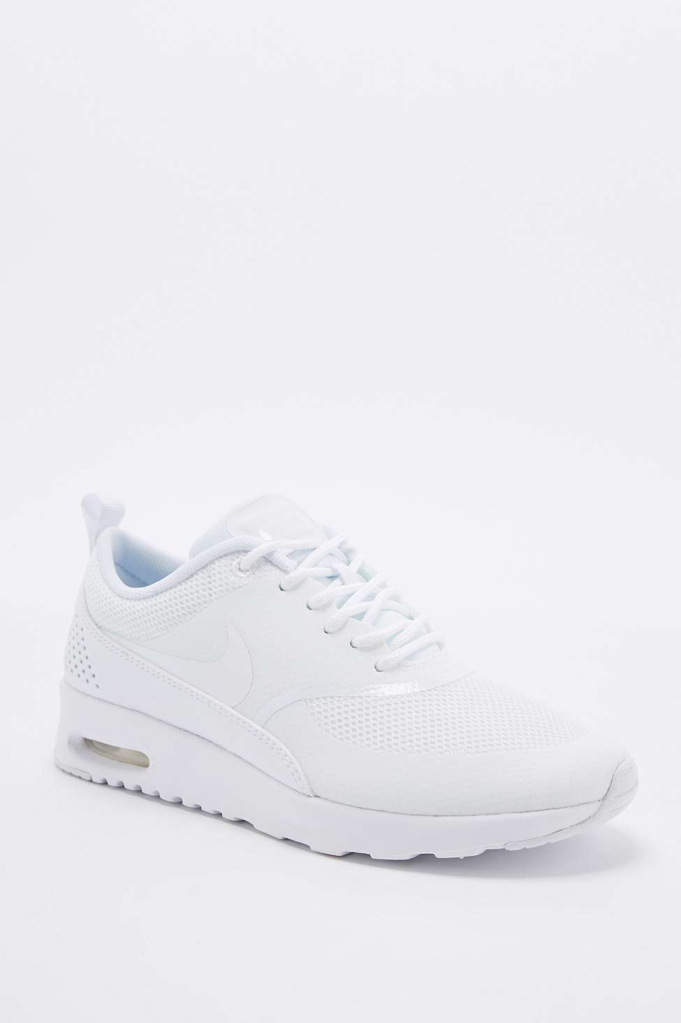 612a8ee6dd94 Nike Air Max Thea Silver And White Trainers in White - Lyst