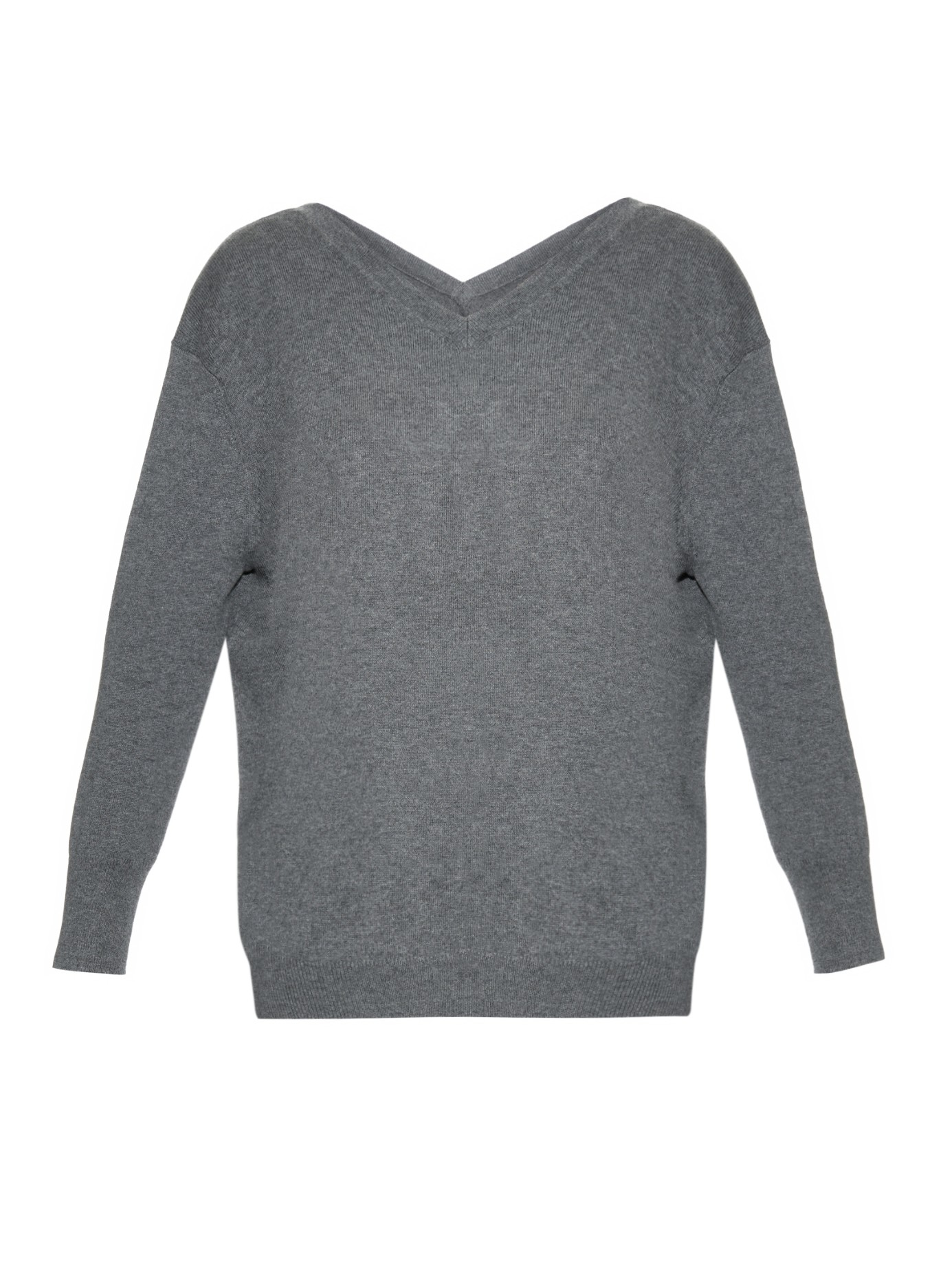 d651ac8f2 Lyst - Étoile Isabel Marant Kinsey Deep V-back Sweater in Gray