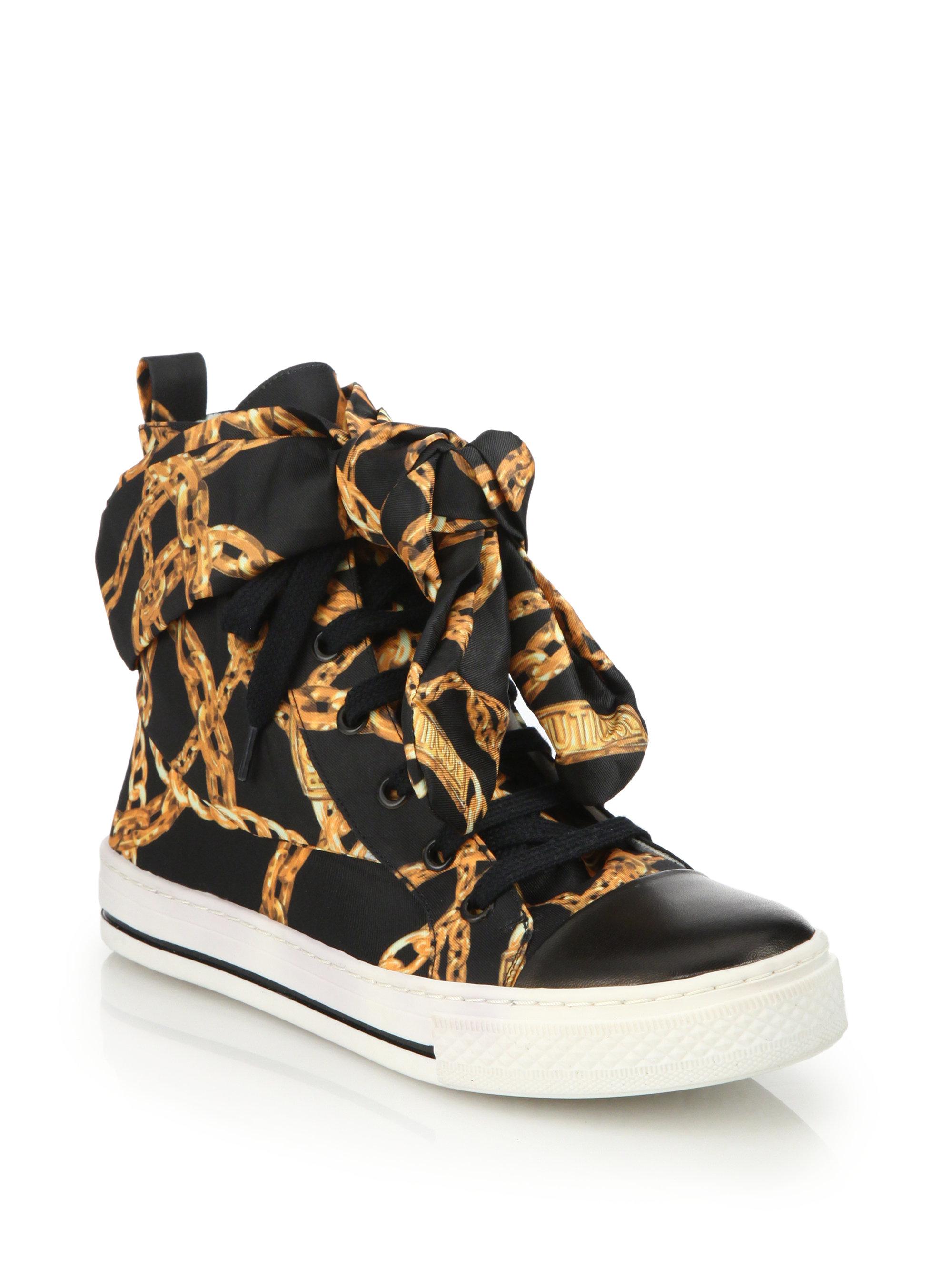 moschino boutique chain sneakers chain - Serafini Pizzeria