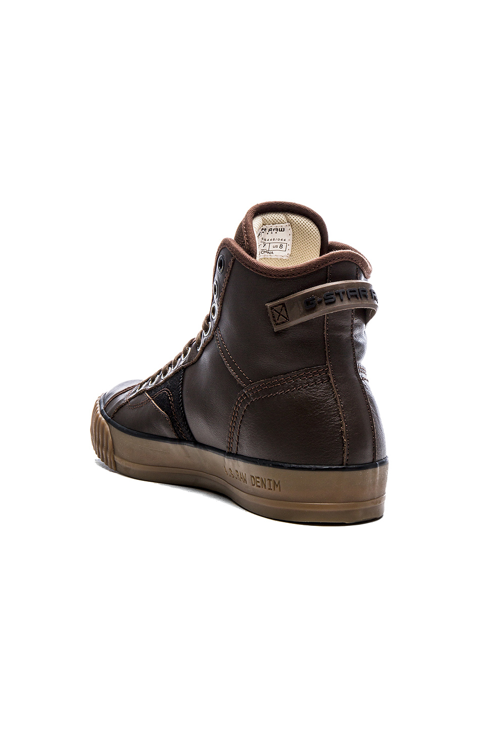 g star raw campus raw scott high top sneakers in brown for men lyst. Black Bedroom Furniture Sets. Home Design Ideas