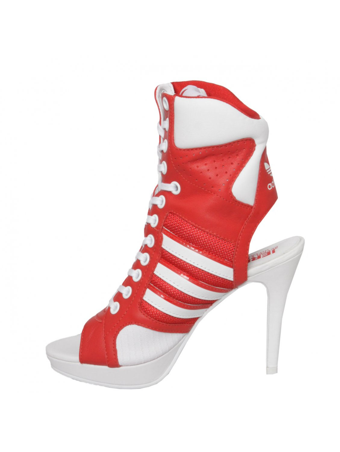 Jeremy Scott For Adidas Lace Up High Heels Red in Red | Lyst