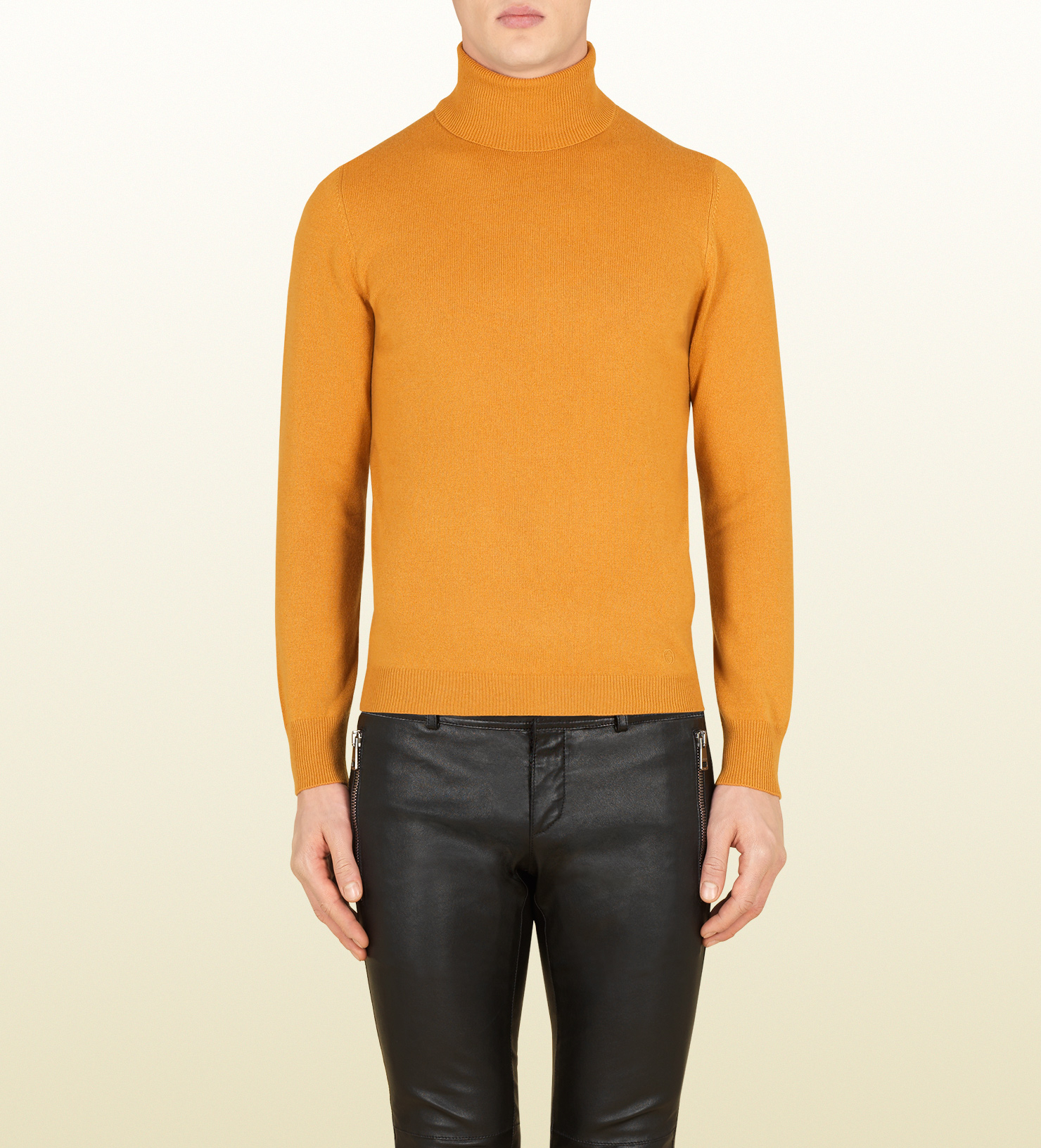 Gucci Dark Yellow Cashmere Turtleneck in Yellow for Men | Lyst
