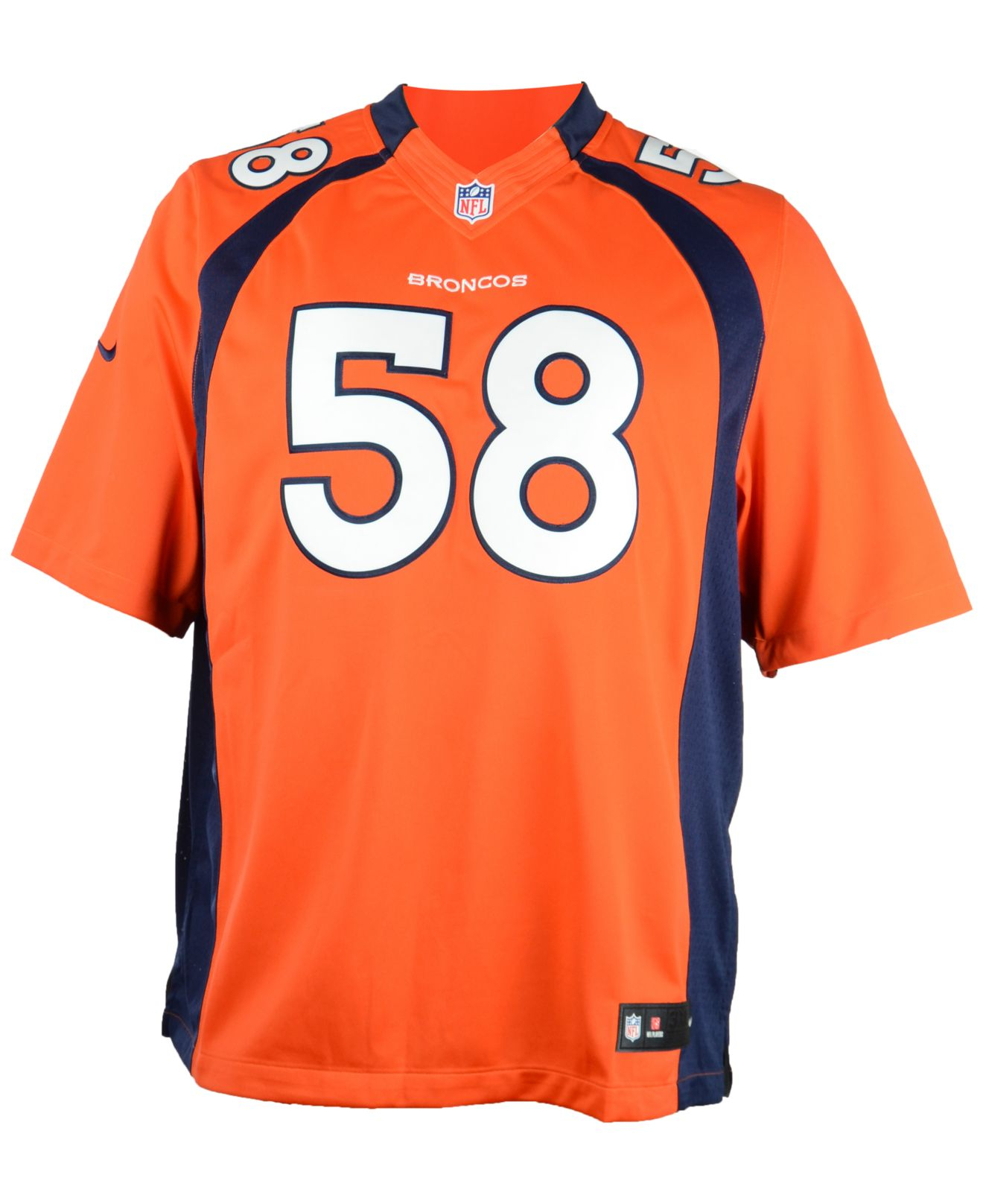NFL Jersey's Women's Denver Broncos Von Miller Nike Orange Limited Jersey