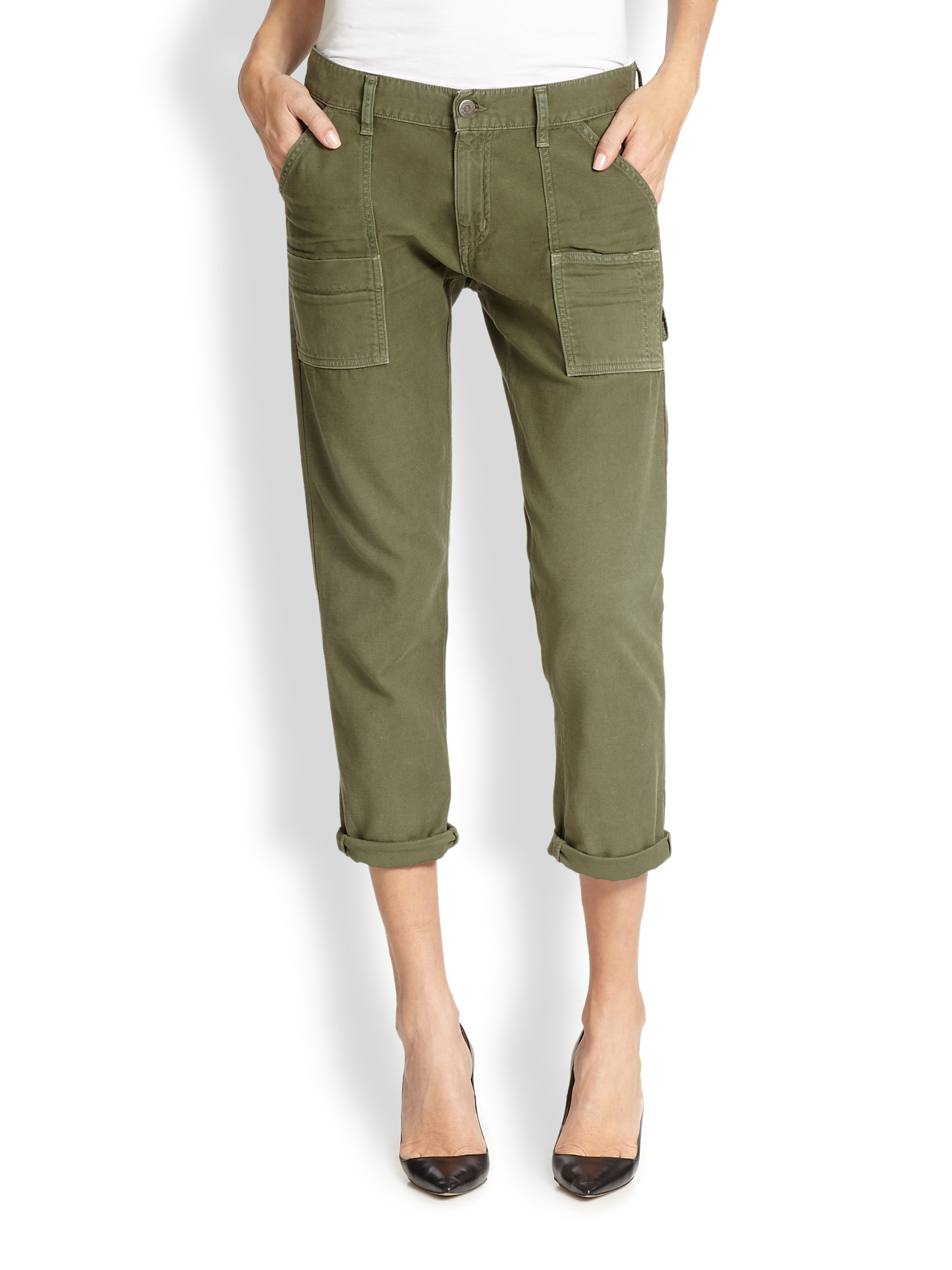 Creative Tommy Hilfiger Womens Cargo Cropped Capri Pants 12 Jeans 100 Cotton