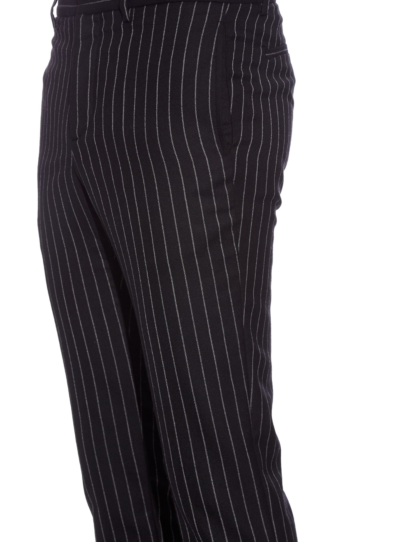 Givenchy Pinstripe Slim-fit Wool Trousers in Black for Men | Lyst
