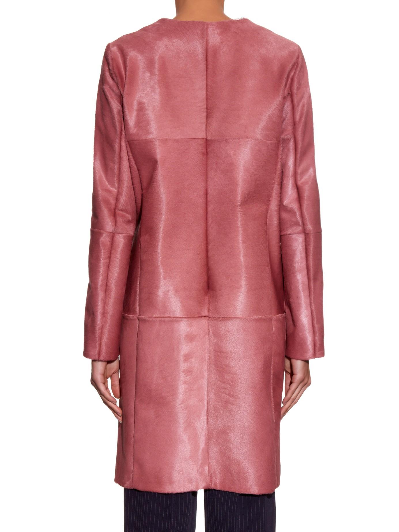 Max mara Sorriso Coat in Pink | Lyst