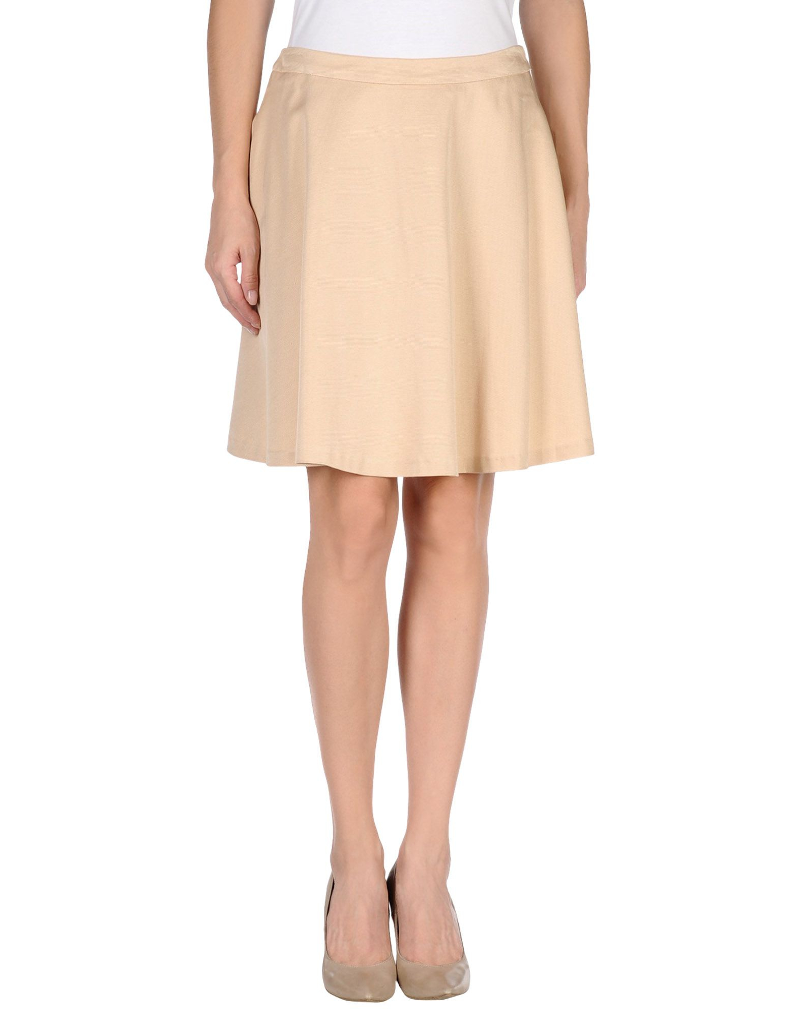 moschino knee length skirt in lyst