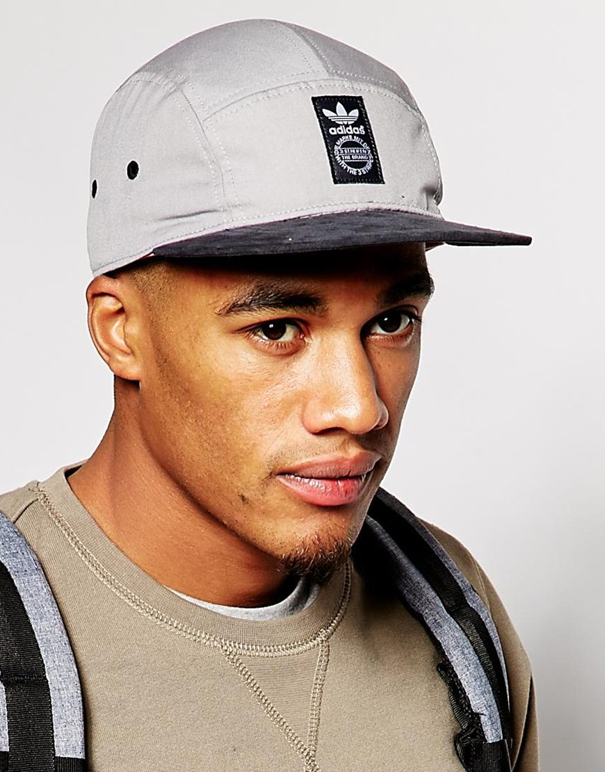 d7293485855 Lyst - adidas 5 Panel Snapback Cap in Gray for Men