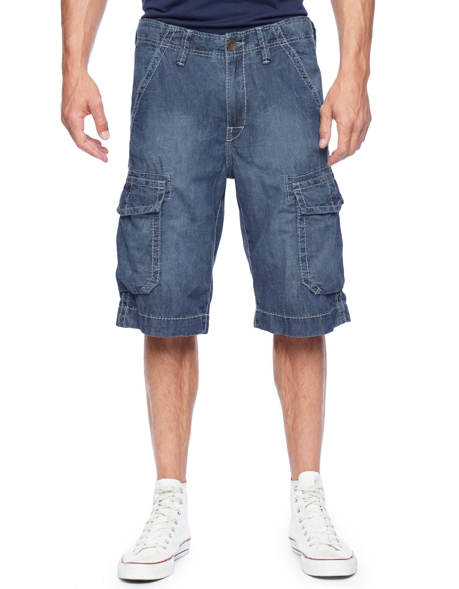 True religion Trooper Cargo Mens Denim Shorts in Blue for Men   Lyst
