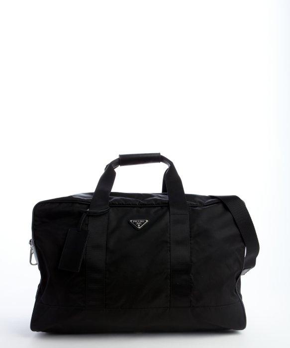 7ee573524460 ... purchase lyst prada black nylon large weekend bag in black for men  1d9c7 6ab7f