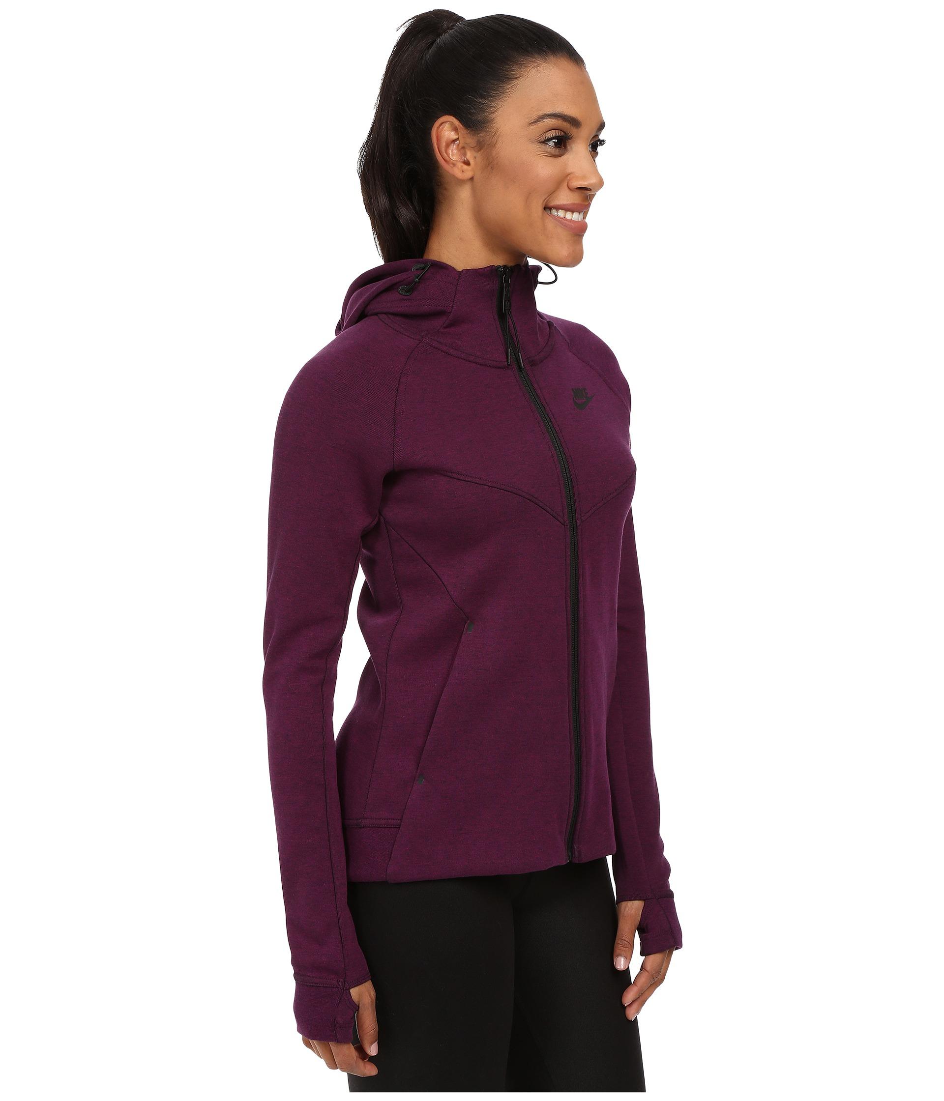 Lyst - Nike Tech Fleece Full-zip Hoodie in Purple acac920a3d