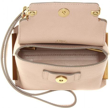 ecc402b8908a Chloé Clare Mini Leather Shoulder Bag in Beige (rope)