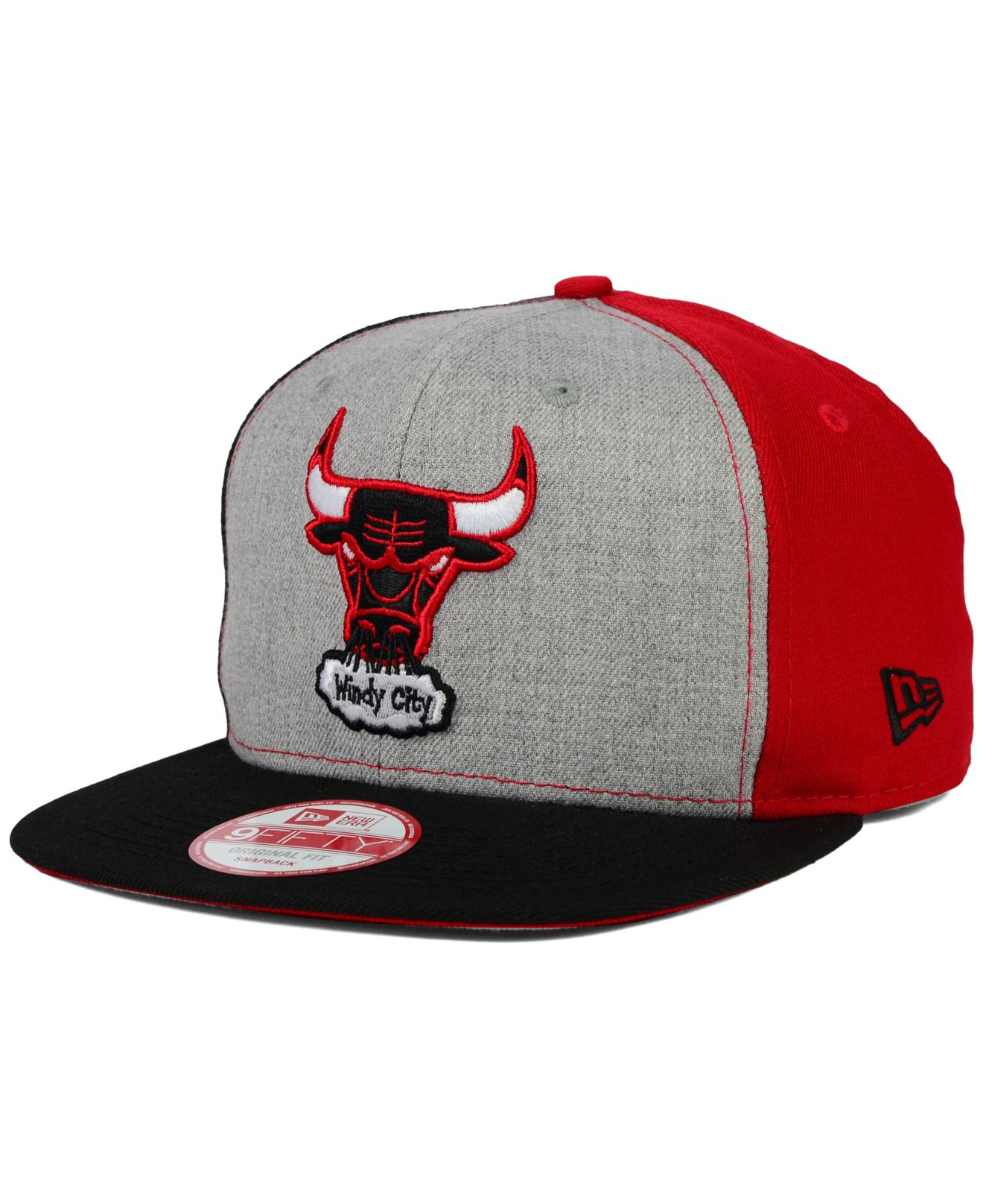 9e8c9f649f4 Lyst - KTZ Chicago Bulls Tri-top 9fifty Snapback Cap in Gray for Men
