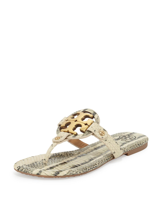 80ce0d9c584b Lyst - Tory Burch Miller 2 Snake-Print Cork Sandals