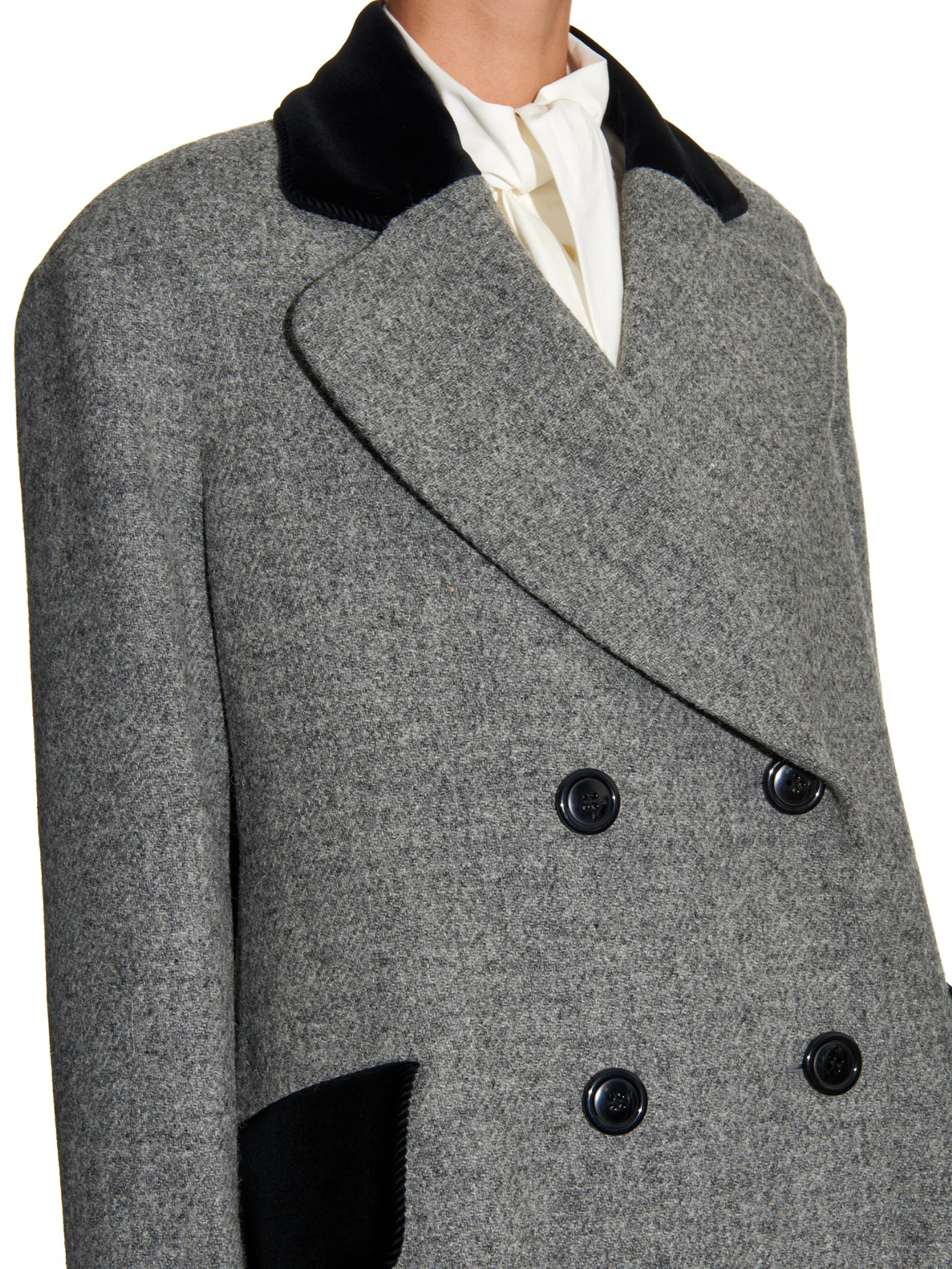 Vivienne Westwood Red Label Princess Harris-Tweed Coat in Gray - Lyst 807cce297a9